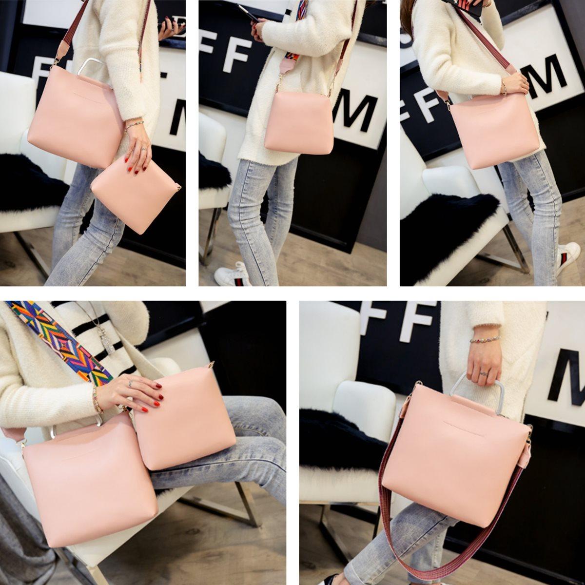 embreagem Key Word 4 : Composite Bag Color Patchwork Shoulder Strap