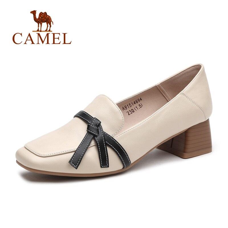 CAMEL nouvelles chaussures de loisir à la mode femmes baskets haute plate-forme talons chaussures de loisirs femme en cuir véritable doux hiver rétro sauvage
