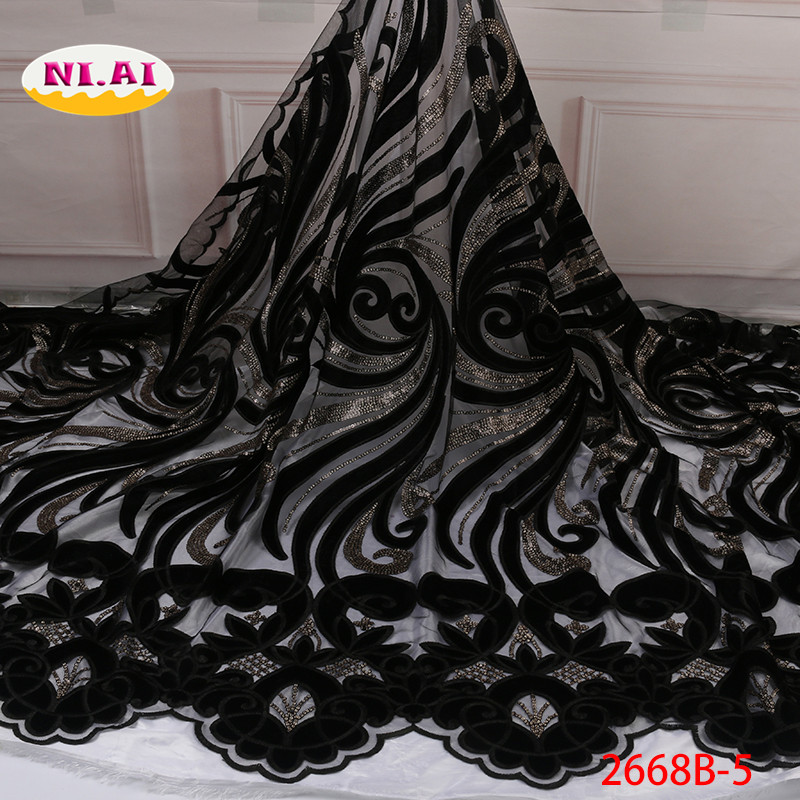 African Velvet Lace Fabric 2019 Newest Wedding Lace In Purple Tissu Mariage Velvet Lace Materials Mr2668b