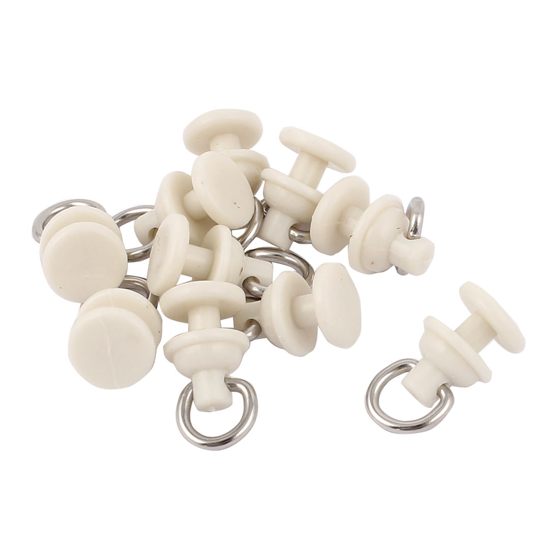 UXCELL High Quality 10Pcs/lot 7mm Oval Ring Plastic Metal Window Curtain Track Carrier Slide Wheels Rollers Beige 22 X 11mm