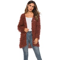 H80&S90 New 2019 Women Hot Sexy Handmade Casual Crochet Hollow Out Blouse Lady Female Coat Ladies' Long Sleeve Knitted Overcoat