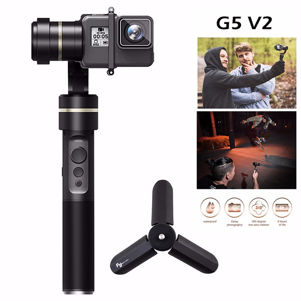 Feiyu G5 3-Axis Splash-Proof Handheld Gimbal Stabilizer for GoPro HERO5 Hero 5 4 3 3+ Xiaomi yi 4k SJ AEE Action Cameras+Tripod wewow sport x1 handheld gimbal stabilizer 1 axis for gopro hreo 3 3 4 smartphone iphone 7 plus yi 4k sjcam aee action camera