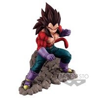 Original Banpresto Dragon Ball GT DBZ Dokkan Battle 4th Anniversary SSJ4 Vegeta PVC action figure model Figurals Dolls