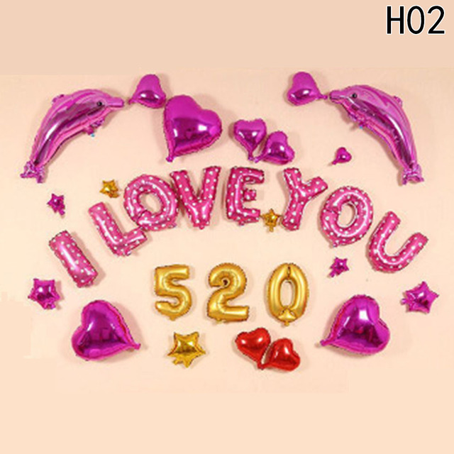 1 set love letter foil balloon anniversary wedding valentines party 1 set love letter foil balloon anniversary wedding valentines party decoration balloon wedding room decoration junglespirit Images
