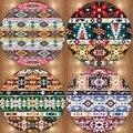 Еще ацтеков Бохо цветные геометрические 3d печати нескользящие микрофибры круглые ковры коврики для гостиных кухонных комнат спальни ванно...