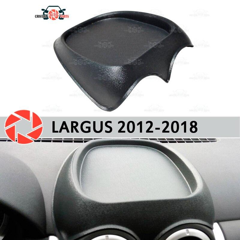 Organizador en la consola del panel frontal para Lada Largus 2012-2018 plástico ABS en relieve bolsillo accesorios de estilo de coche Decoración