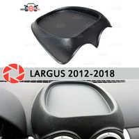 Organizador na frente do painel de console para Lada Largus 2012-2018 plástico ABS em relevo bolso estilo do carro acessórios de decoração