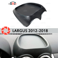 Organizer on front panel console for Lada Largus 2012 2018 plastic ABS embossed pocket car styling accessories decoration|Chromium Styling| |  -