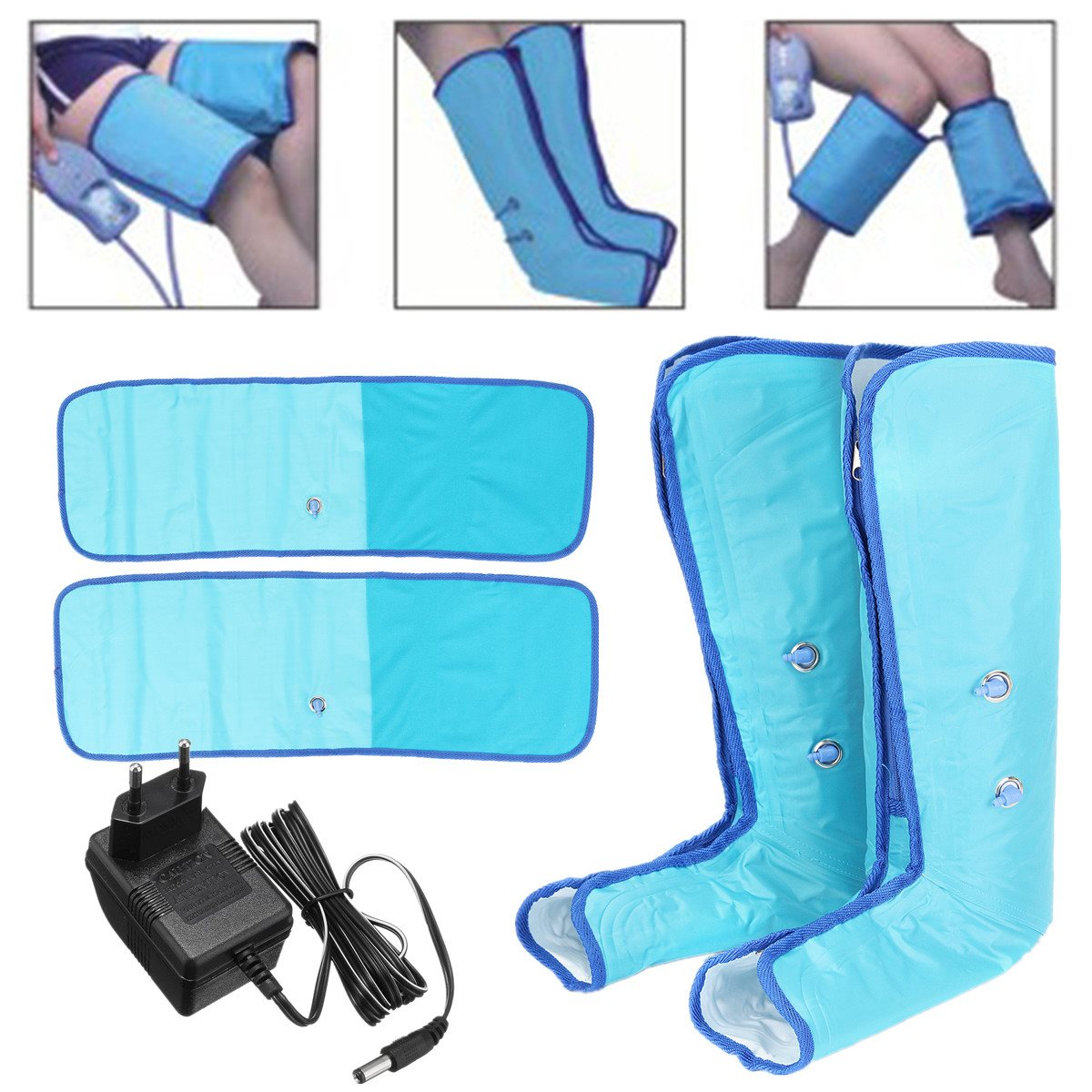 Air Press Leg Foot Massager Home Air Compression Circulation Ankle Therapy Massager Relief Tired Relieve Muscle Foot Care Tool electric antistress therapy rollers shiatsu kneading foot legs arms massager vibrator foot massage machine foot care device hot