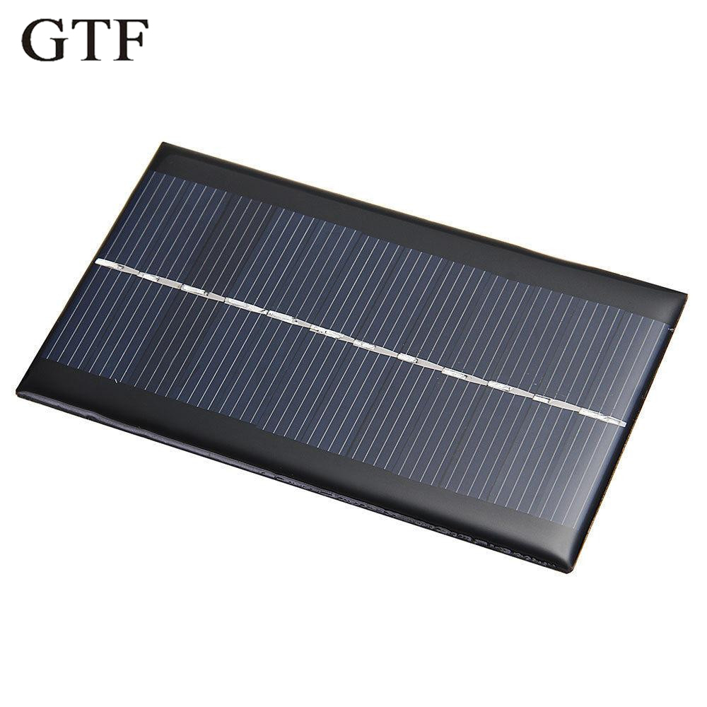 GTF 1PCS mini 6V 1W solar panel DIY solar system module for light cell phone toy charger portable solar panel