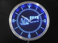 nc0386 Beer Helping White Guys Dance Since 1842 Neon Sign LED Wall Clock