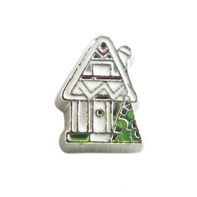 20PCS Cute House Alloy Floating Charms Fit Glass Locket Charms DIY Jewelry Accessories