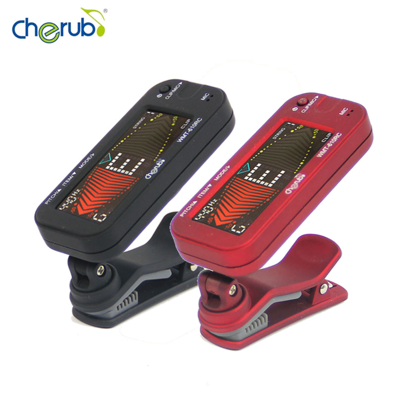WMT-610RC Clip-on Reversible Metro-tuner LCD Display with Metronome for Chromatic Guitar Bass Violin Ukulele & Wind instruments