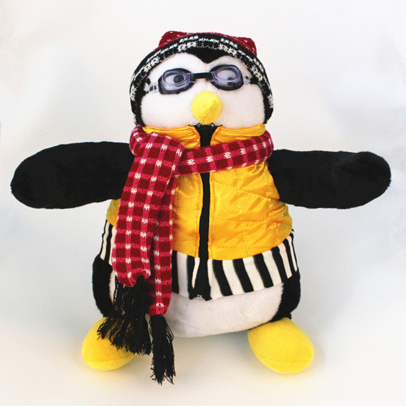 "Image 1 - Serious Friends Joey's Friend HUGSY Plush PENGUIN Rachel Stuffed Doll for birthday gift 18""40cm-in Movies & TV from Toys & Hobbies"