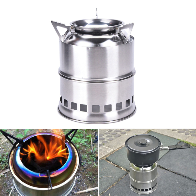 New Useful Outdoor Cooking Camping Stainless Steel Wood Stove Pocket  Alcohol Stove - Aliexpress.com : Buy New Useful Outdoor Cooking Camping Stainless