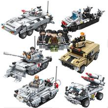2017 NEW 635010~15 Military Series Super Weapon Figures Tank Model Building Blocks Set Bricks Kids Children Toys Gift
