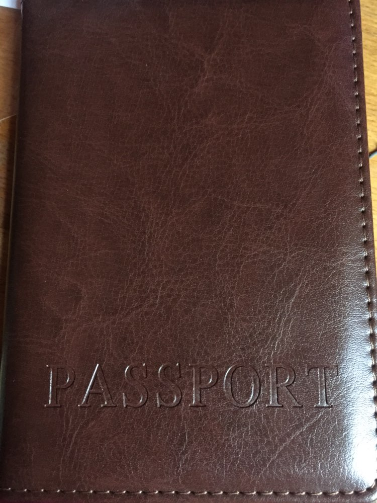 Men Women Leather Passport Cover with 2 Credit Card Slots PU Leather Business Travel Passport Holder 5 colors available photo review