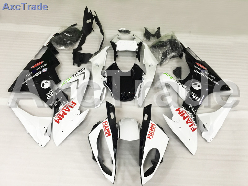 Motorcycle Fairings Kits For BMW S1000RR S1000 2015 2016 15 16 ABS Plastic Injection Fairing Bodywork Kit White Black A444 motorcycle blue bodywork kit fairing for bmw s1000rr s 1000 rr s 1000rr 2015 15 injection mold fairings cowl set uv painted