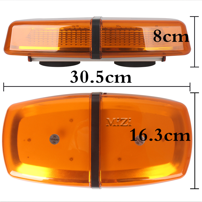 Warning Light Amber LED Light Bar Emergency Light Ambulance DayLight Truck With Magnetic Super Bright 12V Car Roof Strobe Beacon