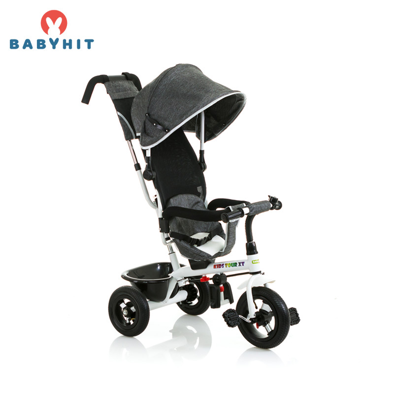 Three Wheels Stroller Babyhit Kids Tour XT, tricycle bike, 1,5-5 years Kidstravel bike bicycle 12t aluminum alloy wheels rear derailleur pulley black