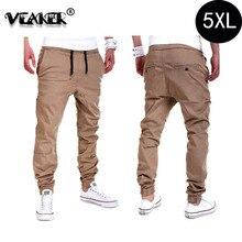 Мужские свободные длинные брюки полной длины мужские модные мешковатые брюки сагги мужские брюки 5XL 6 цветов