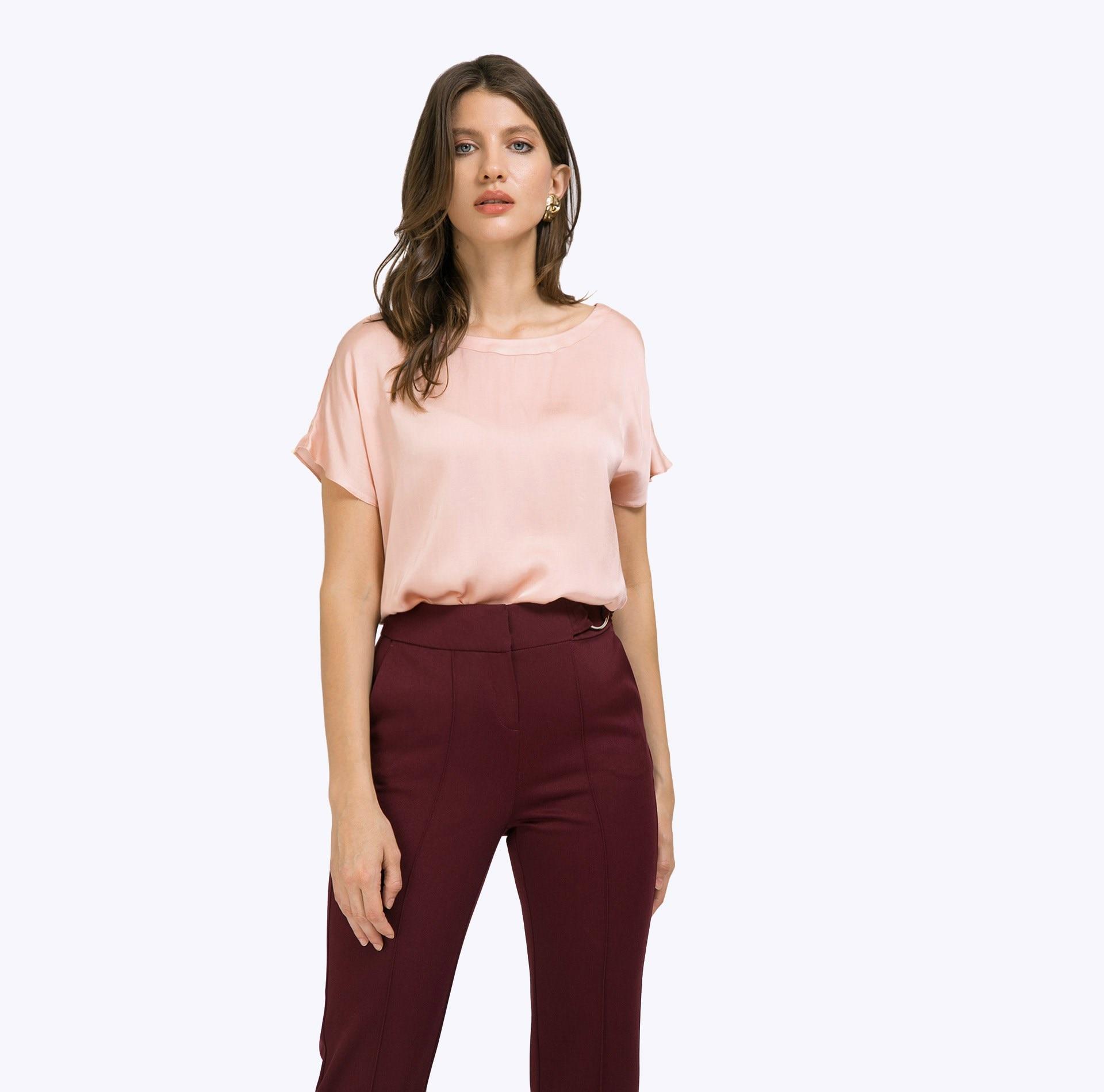 Blouse B2319/rozy ruffle trim blouse