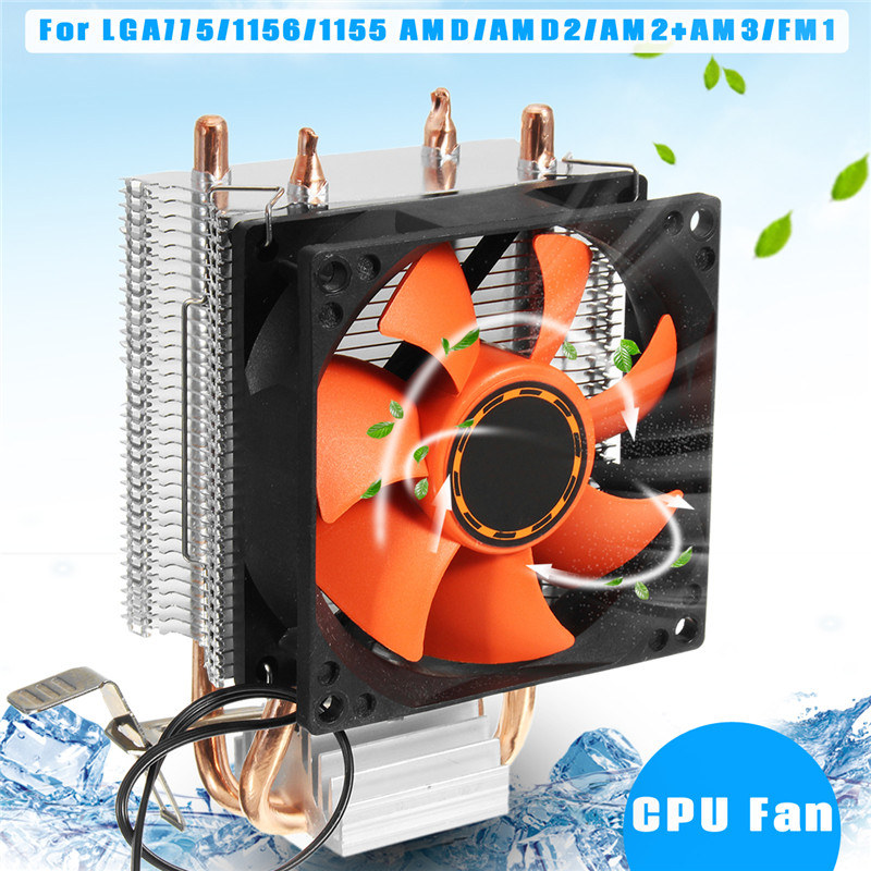 Computer CPU Cooling Cooler Heatpipes Radiator CPU Cooler Fan Silent Heatsink PC Case For LGA775/1156/1155 AMD/AMD2/AM2+AM3/FM1 cpu cooler double heatpipe radiator cpu cooling fan for intel lga775 1155 1156 for amd am2 am2 am3 80 80 25 mm