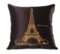 45 45 Cm Decorative Vintage Paris Eiffel Tower Printed High Quality Throw Cushion Cover Pillow Case