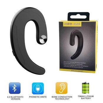 Bluetooth Headphone Single Earphone earbuds Exquisite Wireless Headset Handsfree Bone Conduction Earphones Headphones with Mic