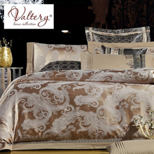 Постельное белье тканный жаккард с вышивкой 2-спальное, евро и семейное из 100% хлопка-сатин