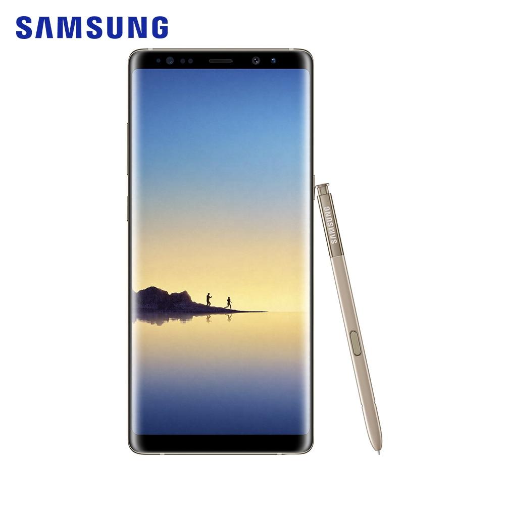 Samsung Galaxy Note8 SM N950F 6 ГБ Оперативная память 64 Гб Встроенная память samsung 8 ядерный 6,3 дюйма 12 МП смартфон 2960x1440 пикселей Золото мобильного телефона