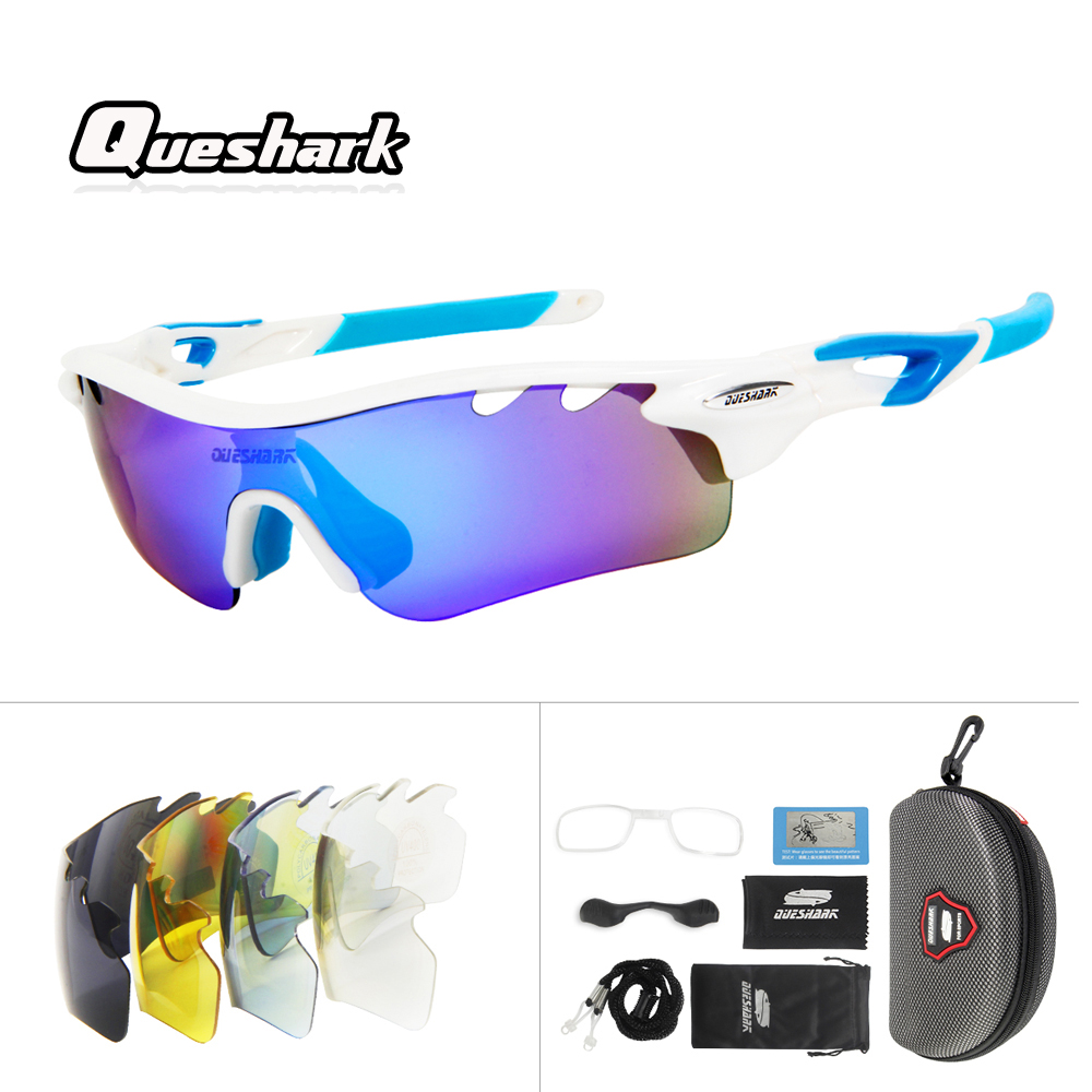 Queshark Professional Polarized Cycling Glasses Mountain Bike MTB Bicycle Glasses Motorcycle Sunglasses Eyewear Oculos Ciclismo okulary wojskowe