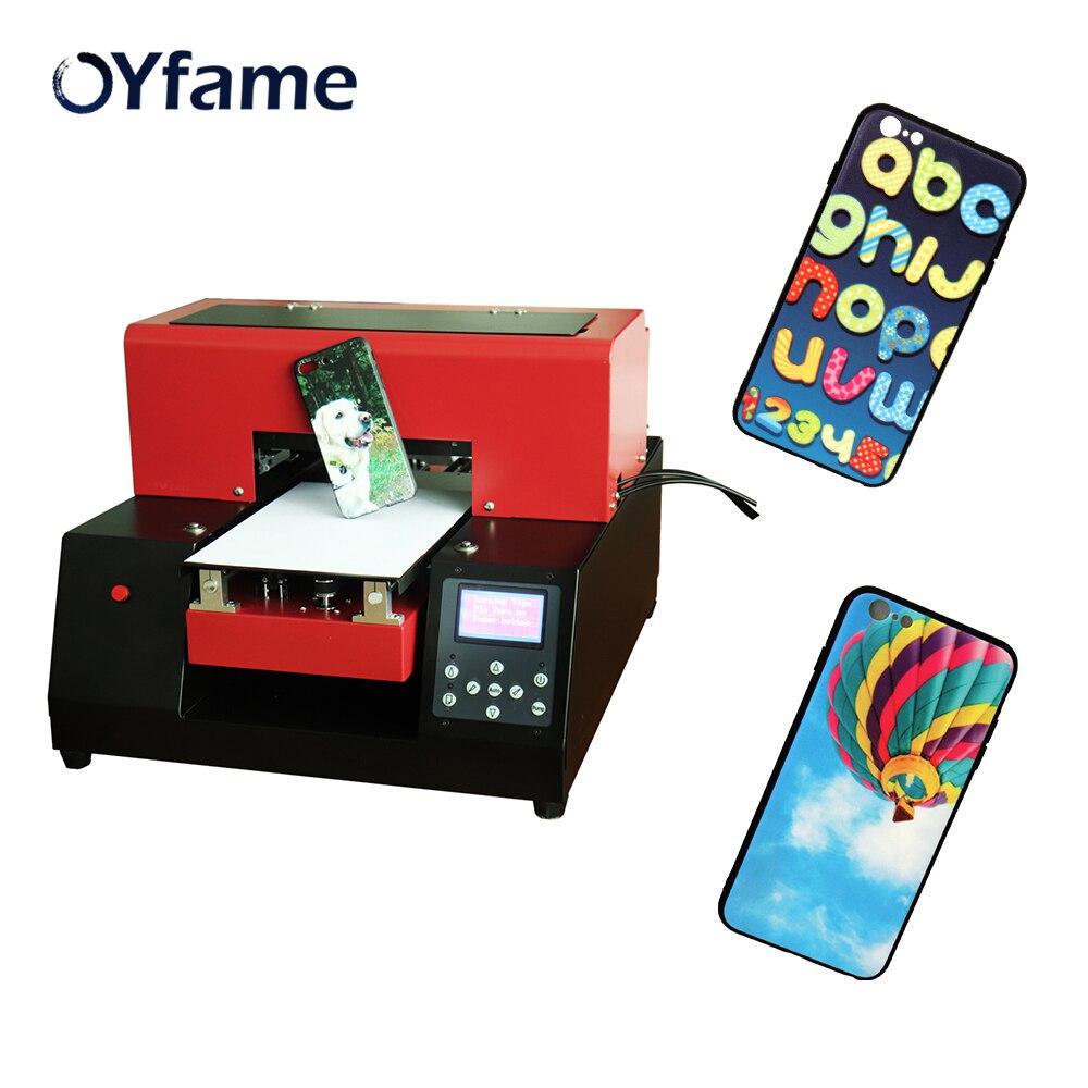 OYfame Automatique DIY UV Imprimante A4 UV À Plat Imprimante Pour Téléphone Cas Acrylique En Métal TPU LED UV Jet D'encre Machine D'impression