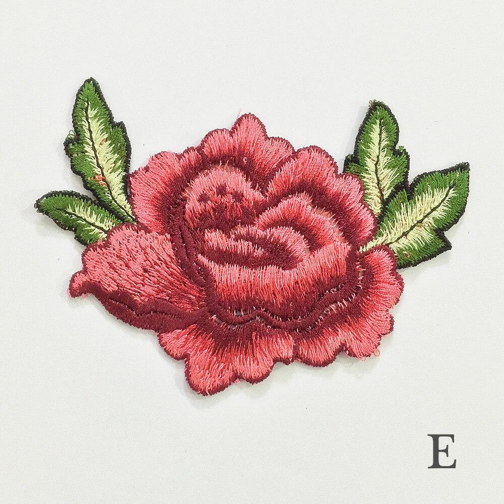 Mode Shirt schwarz Blumen Rose stickerei Patch DIY 26*13cm