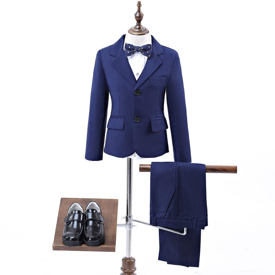 Blue boys suits for weddings kids Blazer Suit for boy costume enfant garcon mariage jogging garcon blazer boys tuxedo 90-160cm