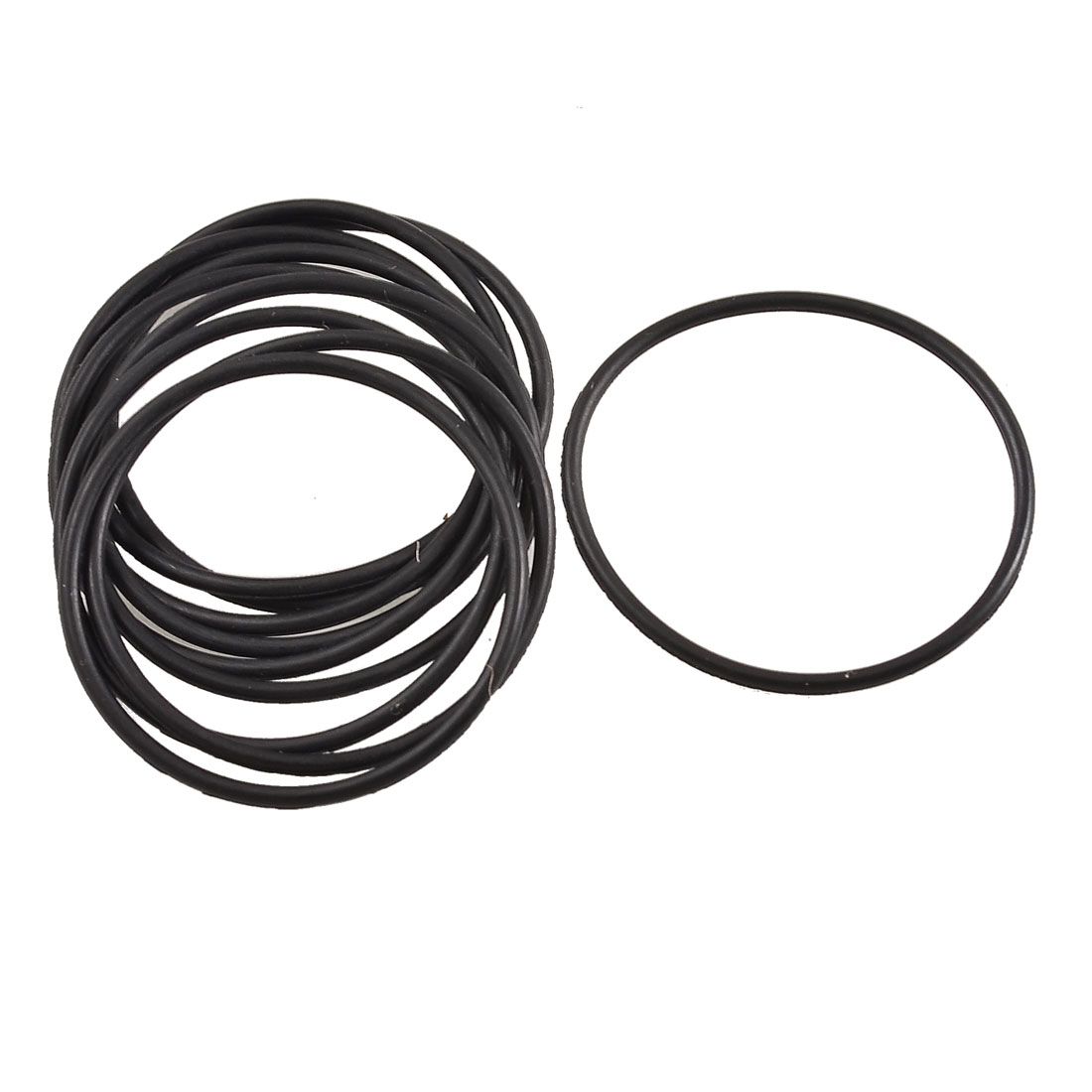 uxcell Rubber 75mm x 2.5mm Sealing Oil Filter Flexible O Rings Gaskets 10 pcs Black