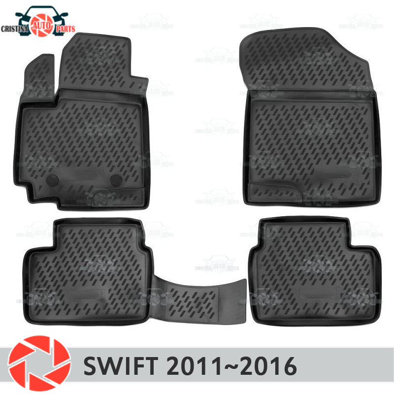Floor mats for <font><b>Suzuki</b></font> Swift 2011~2016 rugs non slip polyurethane dirt protection interior car styling accessories image