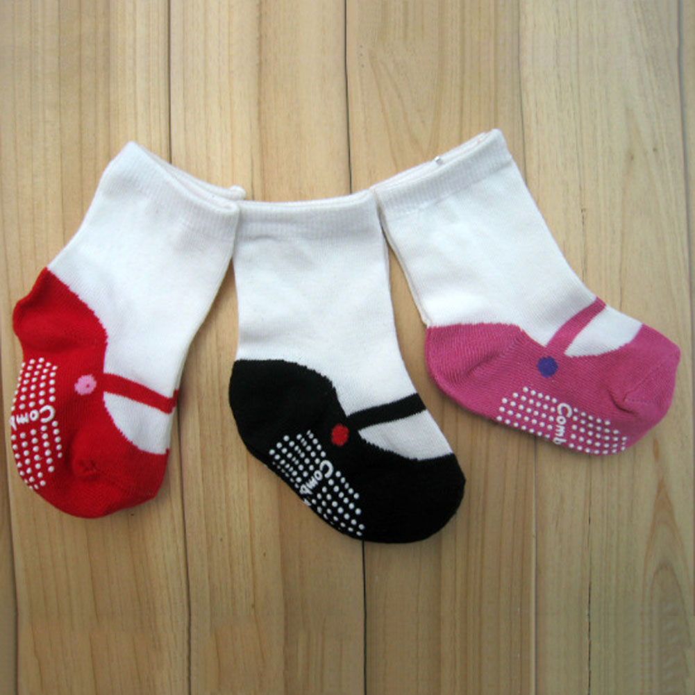 Fashion Baby Girl Warm Socks Dot Children Cute Slip Shoes Cotton Socks Kids 3 ColorsFashion Baby Girl Warm Socks Dot Children Cute Slip Shoes Cotton Socks Kids 3 Colors