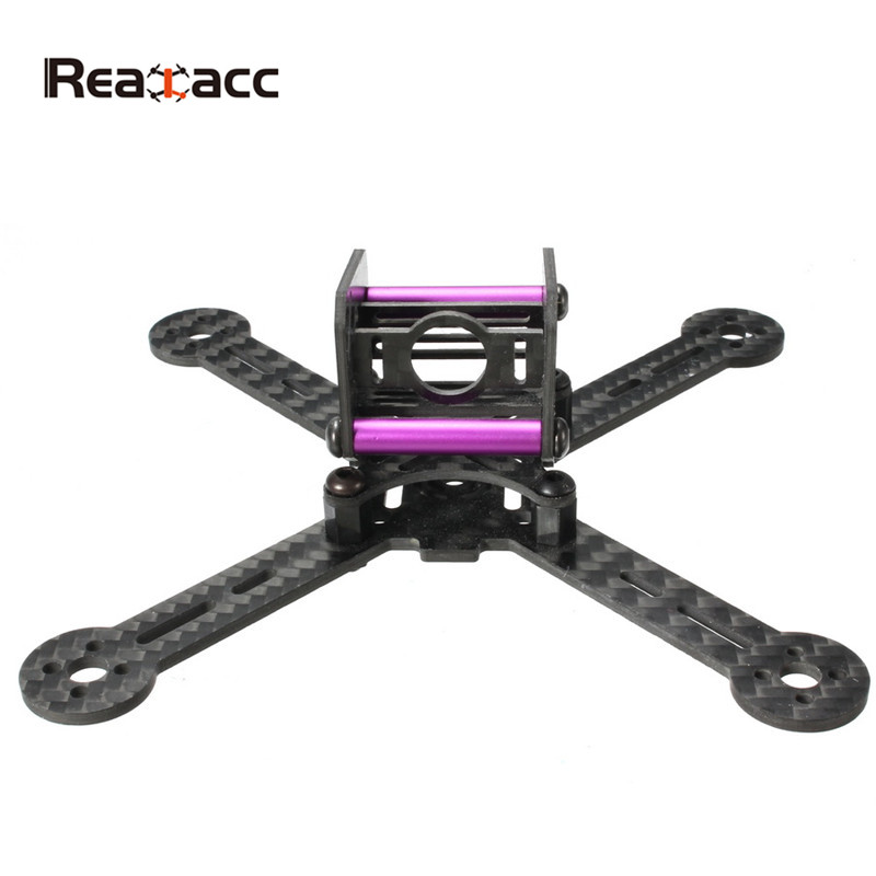 Realacc KT100 100mm Carbon Fiber Frame Kit For RC Quadcopter Multirotor FPV Camera Drone X Type Frame Accessories Purple frame f3 flight controller 2206 1900kv motor 4050 prop rc fpv drone with camera plane 210 mm carbon fiber mini quadcopter