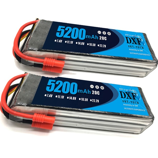 2PCS 11.1V 5200Mah 3S 20C DXF Lipo Battery For Walkera QR X350 PRO RC Drone Quadcopter SPARE PARTS Walkera Upgrade Parts 1