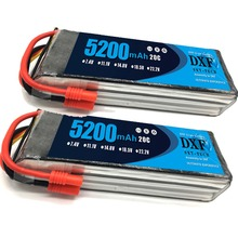 2PCS 11.1V 5200Mah 3S 20C DXF Lipo Battery For Walkera QR X350 PRO RC Drone Quad