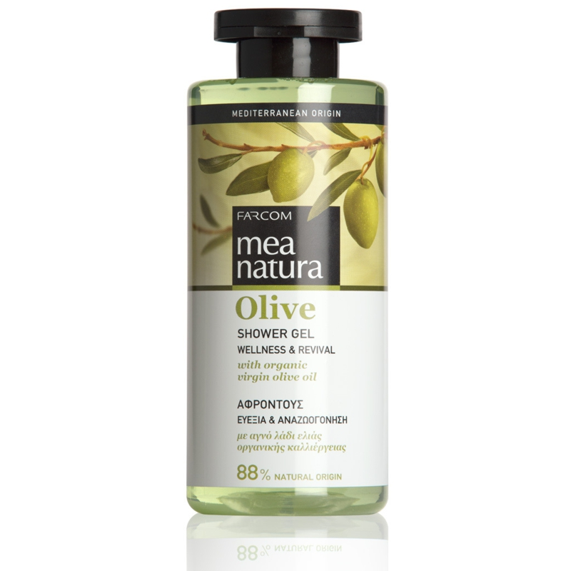 Olive Shower Gel Wellness & Revival With Organic Virgin Olive Oil. For All Skin Types.