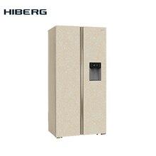 Холодильник Side-by-Side HIBERG RFS-484DX NFYm, фасад нержавеющая сталь цвет