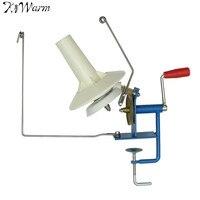 KiWarm Large Metal Yarn Fiber String Ball Wool Winder Holder Winder Fiber Hand Operated Cable Winder