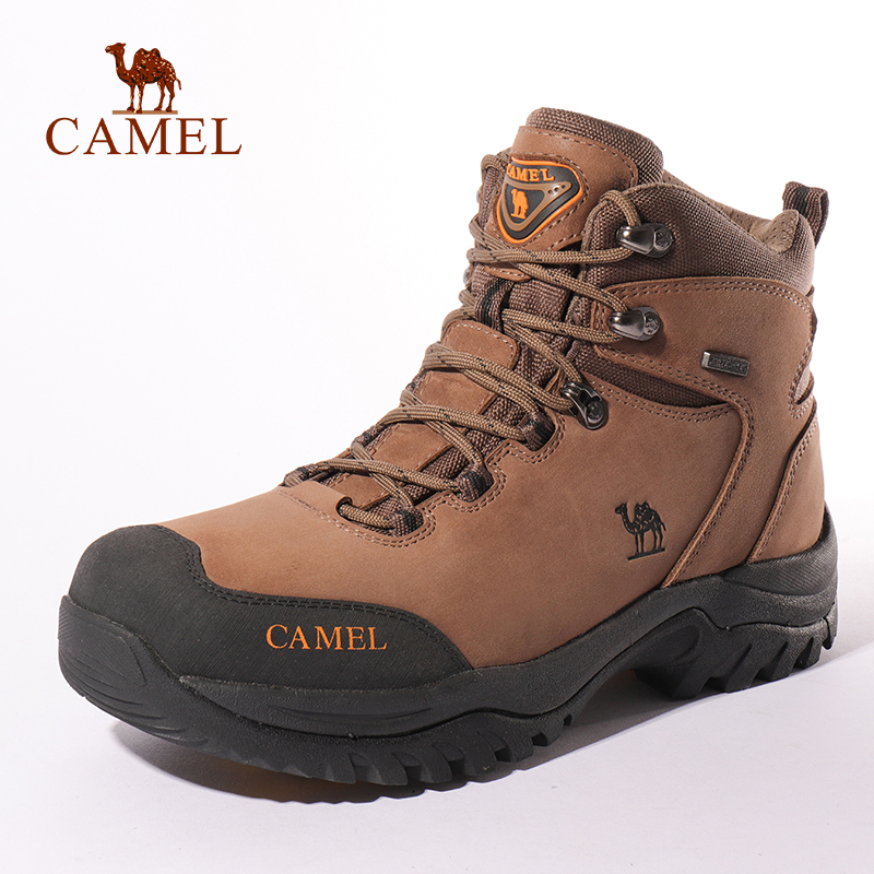 CAMEL Men Women High Top Hiking Shoes Durable Waterproof Anti-Slip Outdoor Climbing Trekking Shoes Military Tactical Boots(China)