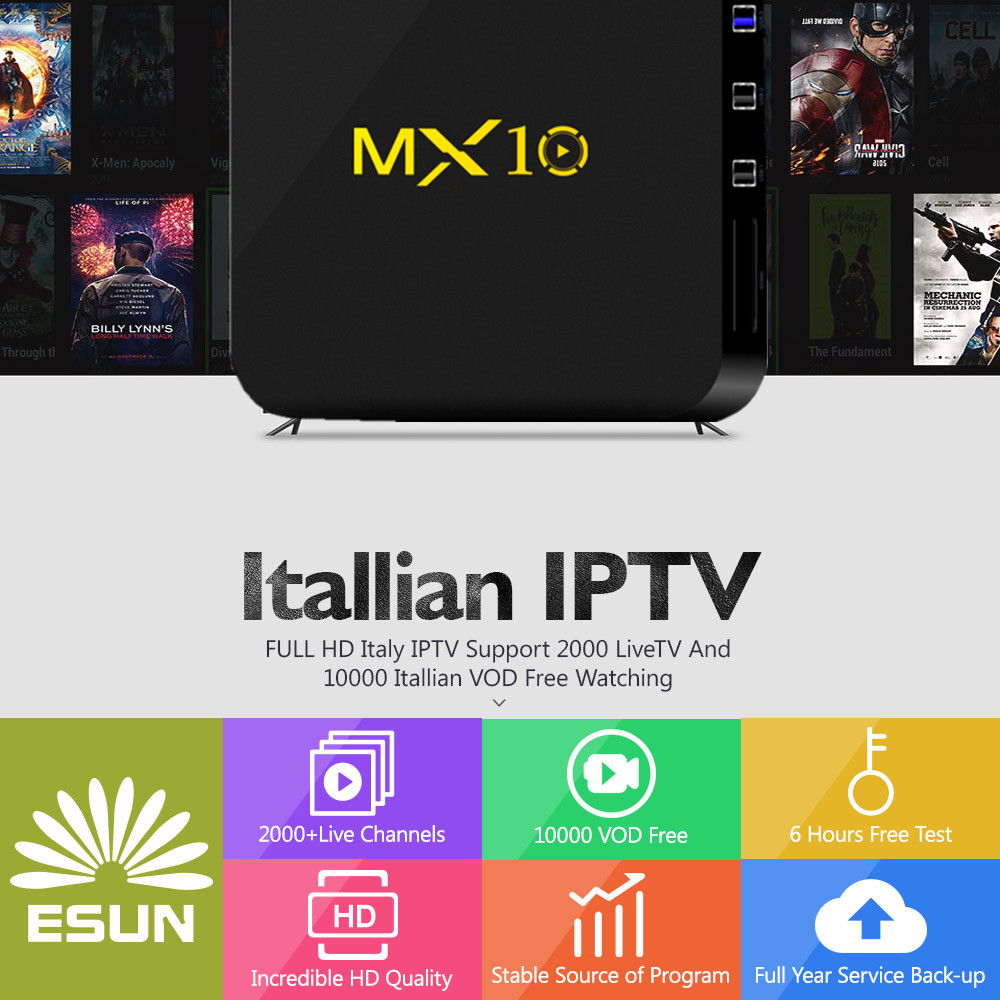 MX10 Italy IPTV Box With 1 Year 4G/32G RK3288 Italy IPTV EPG 4000+Live+VOD configured Europe Albania ex-yu XXX channels BOX h96mini italy iptv a5 tv box with 1 year 4g 32g italy iptv epg 4000 live vod configured europe albania ex yu xxx channels box