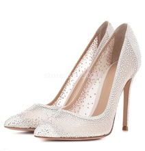 White lace women's high heels thin heel rhinestone decor pointed toe sexy pumps female party dress shoes slip-on single shoes phyanic classic sweet pink blue women pumps bowtie heels pointed toe thin high heel shoes 9cm slip on party dress shoes