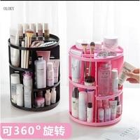 OLOEY Extra Large Capacity 360 Degree Rotating Makeup Organizer Adjustable Multi Function Cosmetics Storage Box