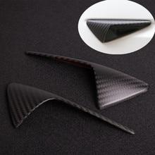 Real Carbon Fiber For Tesla Model X Model S Model 3 Model Y 2016 2020 Side Camera Fender Marker Cover Grille Badge Accessories