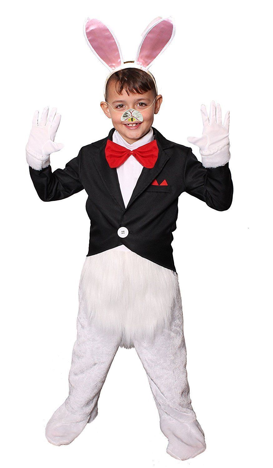 CHILDS KIDS EASTER RABBIT BUNNY COSTUME SCHOOL BOOK WEEK HELLOWEEN FANCY DRESS CUTE MOVIE CHARACTER CARTOON Alice in Wonderland